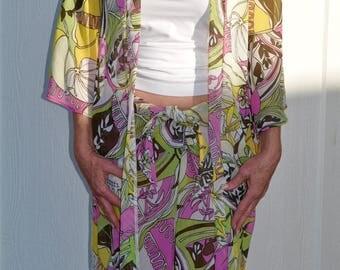 Lounge Act Jacket Flores Print