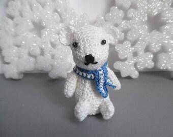 8 cm white polar bear crochet Amigurumi