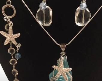 Starfish and sea glass set