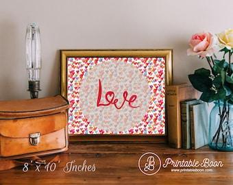 Printable Boon Art Love Print, Printable art wall decor love quote print, Love, typographic print wall art