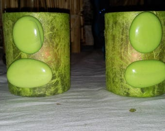 lime green candle tart color