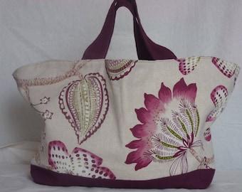 Very nice bag in beige and Burgundy