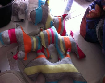Dog toys with stripes