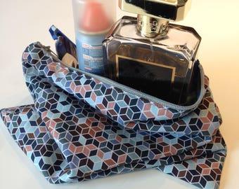 KUBIK pattern cotton pouch