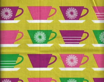 Cotton fabric with cups - Fat Quarter