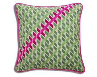 Geometric Twists needlepoint kit