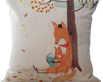 Fox pillow cushion with Fox Cushion cover