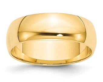New 14K Solid Yellow Gold 6mm Men's and Women's Wedding Band Ring Sizes 4-14. Solid 14k Yellow Gold, Made in the U.S.A.