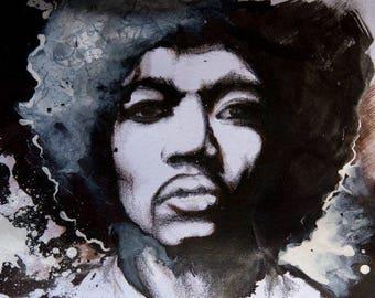 Jimi Hendrix Print (A4)