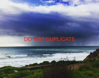 Photography, Storm Photo, Beach Photo, Digital Print