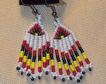 Native American Beaded Chandelier Earrings