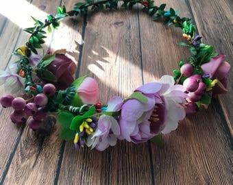 Flower Crown, Photo Prop, Headpiece, Boho, Bridesmaids, Flower Girl