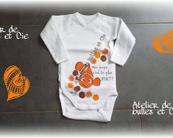 hand painted personalized 2 orange fish body