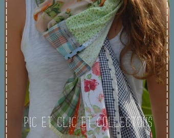 a green mouse... scarf/shawl scarf scarf patchwork 6 colours to order