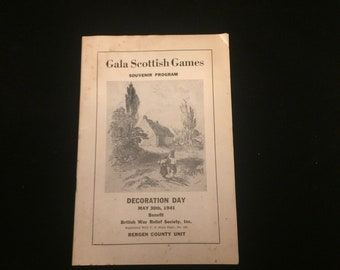 Gala Scottish games souvenir program May 30, 1941 British war relief society