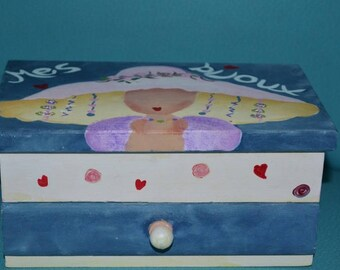 Handpainted jewelry box for little girl