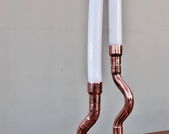 Copper Twin Candle Stick Holder