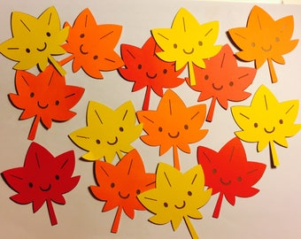 20 Paper Die Cut Fall leaves( these can come in all different colors and sizes)