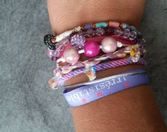 Cuff Bracelet mounted on a silver magnetic clasp