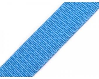 1 meter of 25 mm blue nylon webbing