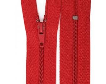 Red nylon closure size 12 cm