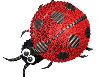 Kit to create a ladybug with corrugated / creative DIY complete Kit