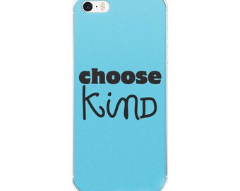 Choose Kind Wonder RJ Palacio anti bullying kindness positive message acceptance education friendship motivation iPhone Case All Sizes