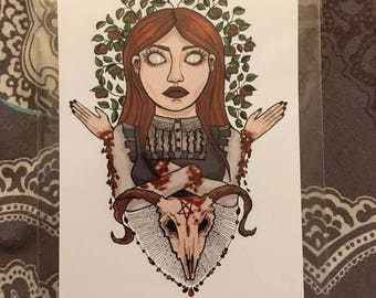 The maiden with no hands - Brothers Grimm fairytales Print