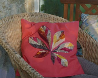 Horse chestnut leaf pillow