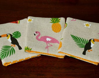 Credit Card Holder, Bus Pass Holder, Travel Card Holder, Business Card Holder, Pass Case, Card Wallet, Tropical, Flamingo, Pineapple, Gift