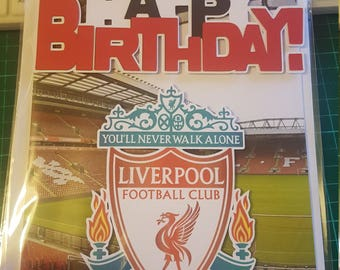 Liverpool Football Club Birthday Card