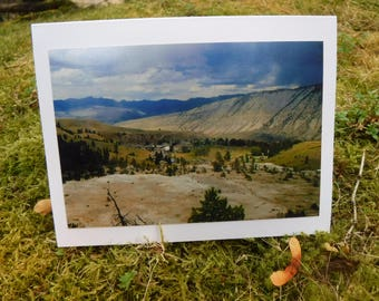 Mammoth Springs Valley - Yellowstone Road Trip Collection - Handmade Blank Photography Greting Card