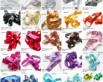 Ribbon / lace sequin glitter 25 mm the meter