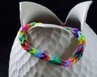elastic color Rainbow loom bracelet