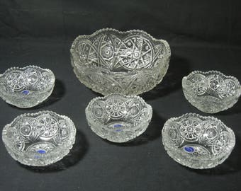 Imperial Collectors Crystal Bowl Set