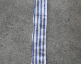 Pacifier baby blue and white pattern fabric stripe to customize