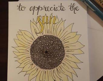 Inspirational motivational card