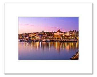 Marina Sunset Matted Photo Print (5x7 inches), Mindarie, Perth, Western Australia