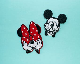 Mickey Patch, Minnie Patch, Mickey Mouse Patch, Minnie Mouse Patch, Disney Patch, Disney Iron On Patch, Disney World Patch
