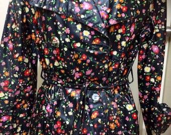 1960s floral raincoat.
