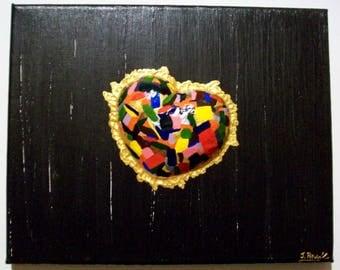 "Acrylic painting on canvas ""O happy heart"""