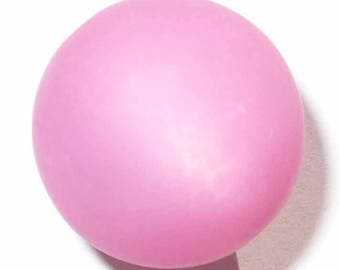 2 pink polaris beads 20mm - Pearl