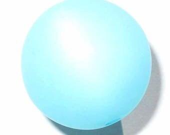 10 pearls polaris aquamarine 8mm 10 beads