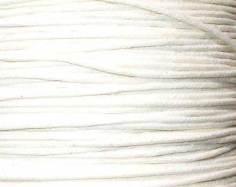 1 M Fil waxed 1 mm white (m) ACFI11