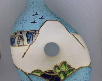 BJ Gore Southwestern Aztec Pottery Vase