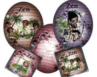Envoi gratuit ! Images digitales ZEN, ovales et carrés, elfes et fées