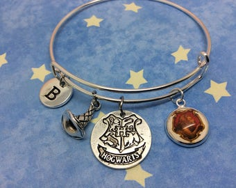 Harry Potter Hogwarts House Bracelet, Harry Potter Jewellery, Gryffindor, Slytherin, Ravenclaw, Hufflepuff, Personalised Harry Potter Gift