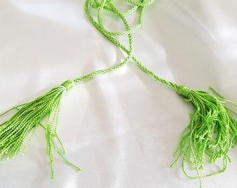 Apple green cord belt Caftan