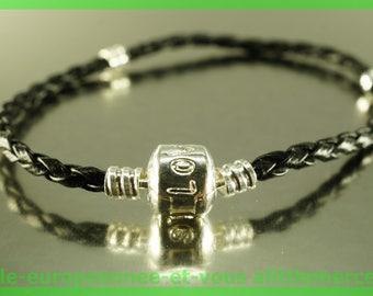 love for leather N100 European Bead Bracelet 20cm charms