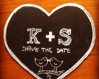 Chalkboard heart sign